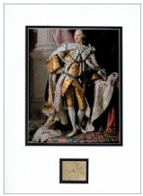 King George III Autograph Signed Display